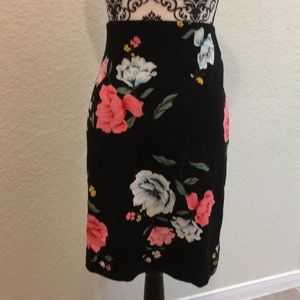 Old Navy floral pencil skirt